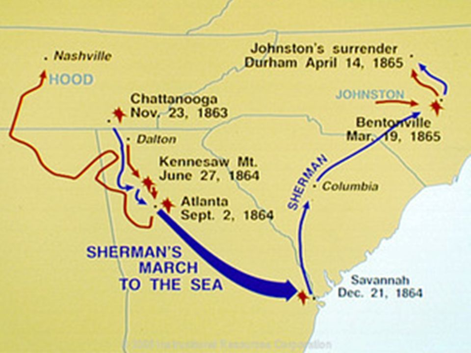 a history of major general shermans march to the sea in 1864 Get an answer for 'what was historically significant about sherman's march to the sea in 1864' and find homework help for other history questions at enotes.