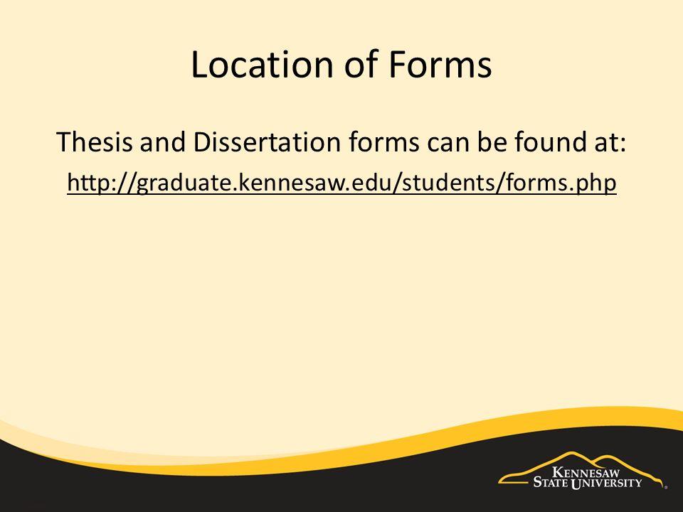 graduate disertation thesis