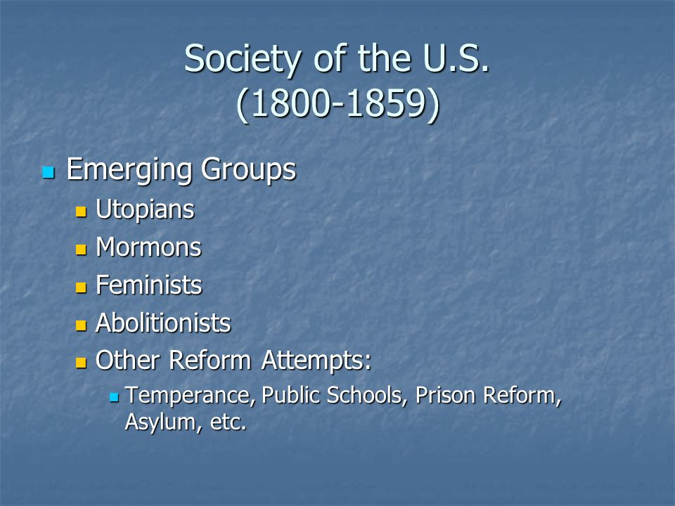 Society of the U.S.