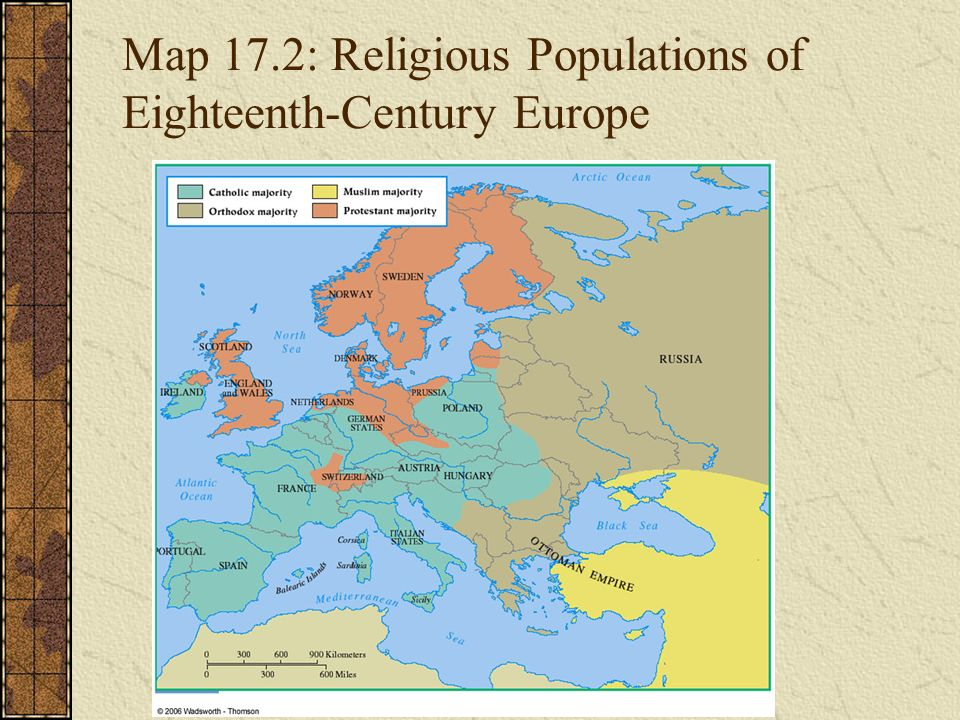 Chapter The Eighteenth Century An Age Of Enlightenment Ppt - Europe religion map