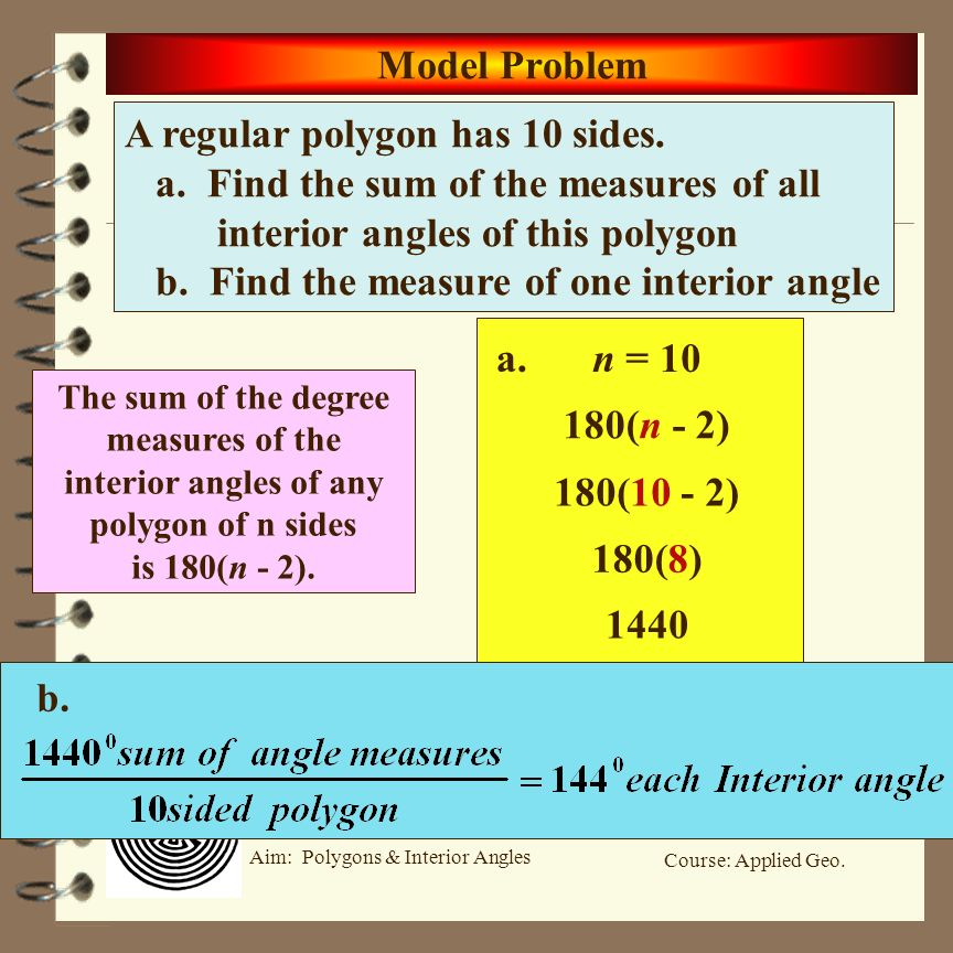 Course Applied Geo Aim Polygons Interior Angles Aim What