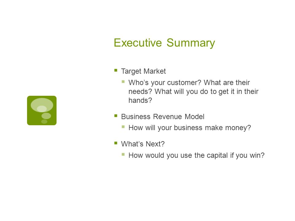 what s an executive summary