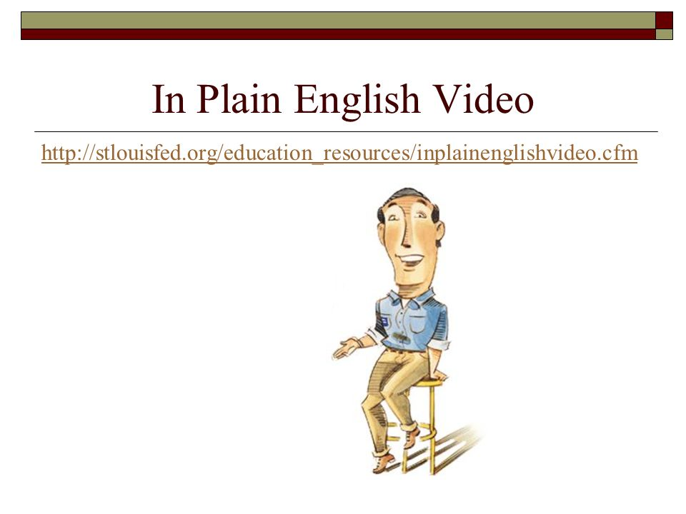In Plain English Video