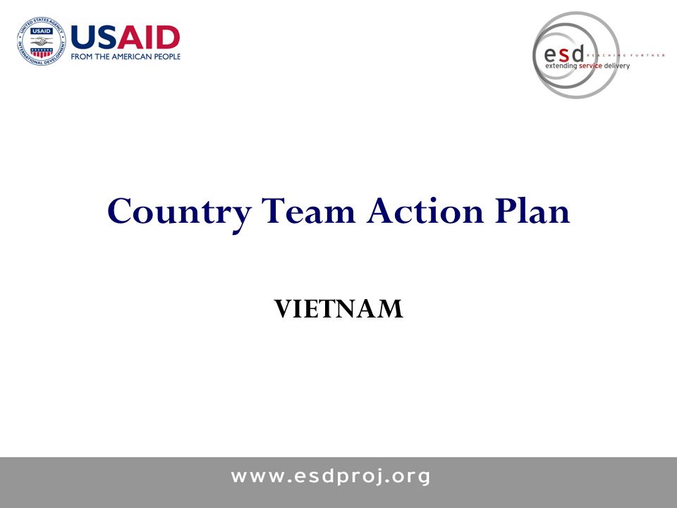 Country Team Action Plan VIETNAM