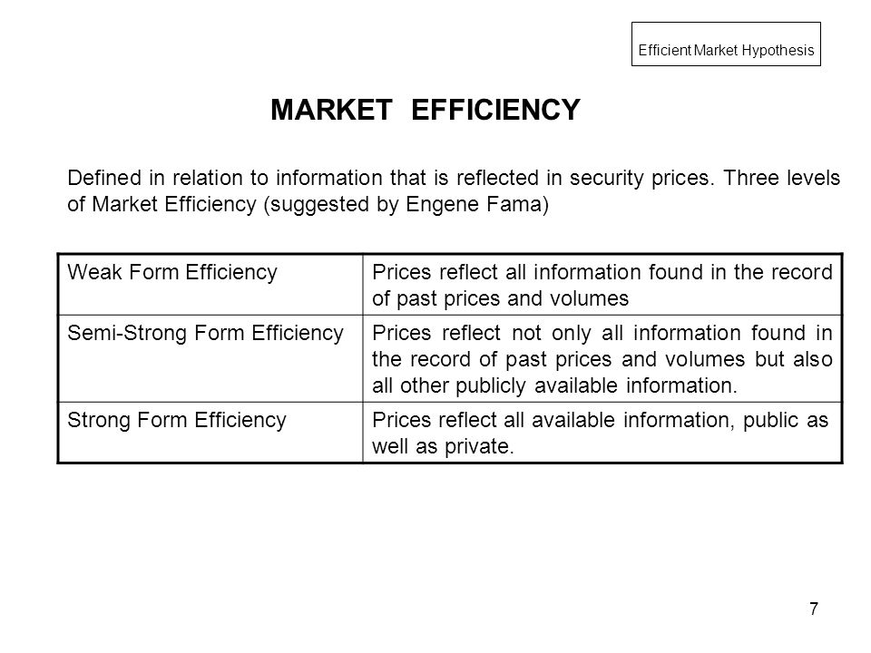 1 PTMBA – FIN II DIV A & B EFFICIENT MARKET HYPOTHESIS Mahesh ...