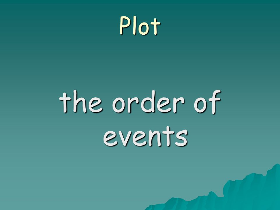 Plot the order of events
