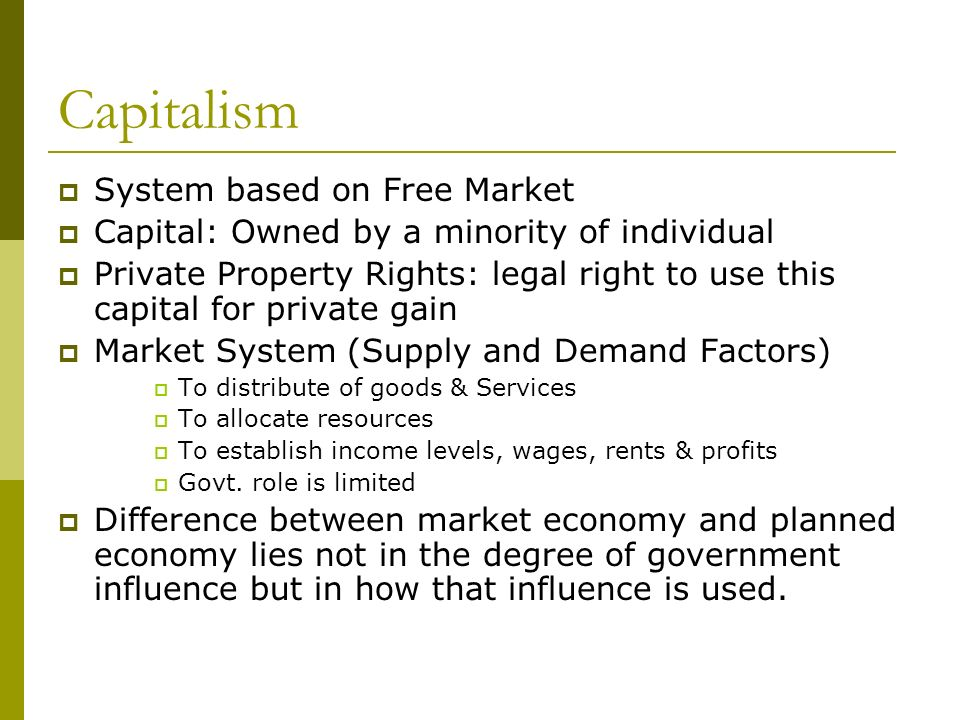 market economy and planned economy What are the types of economic systems print the last is mixed economy which is a combination of a planned and market economywhere there are interactions of.