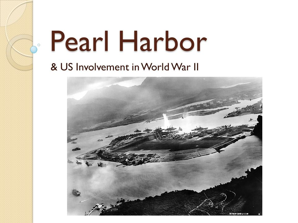 Pearl Harbor & US Involvement in World War II US During the Inter ...