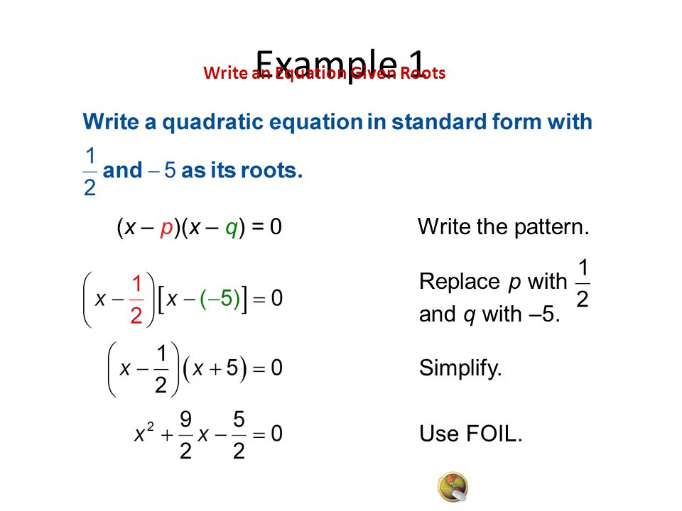 Writing Equations From Roots Worksheet Kidz Activities