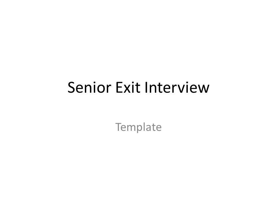 exit interview template
