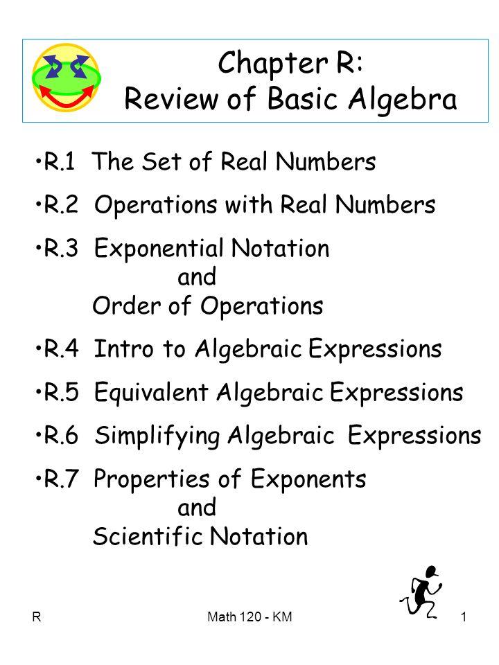 basic algebraic properties of real numbers Algebraic properties of real numbers the basic algebraic properties of real numbers a,b and c are: 1 closure: a + b and ab are real numbers 2 commutative: a + b = b + a, ab = ba.