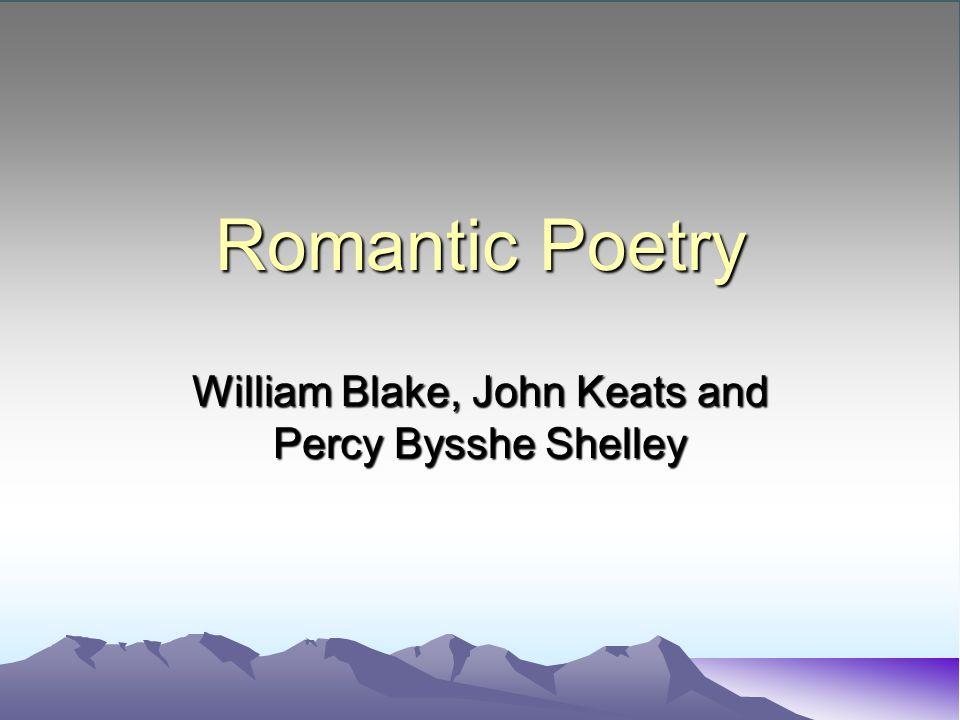comparison of william blake and john keats