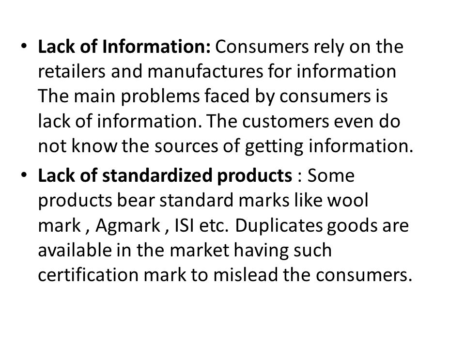 problems faced by consumers in india The food processing industry in india: challenges and opportunities constraints/problems a strong link between agriculture and consumers.