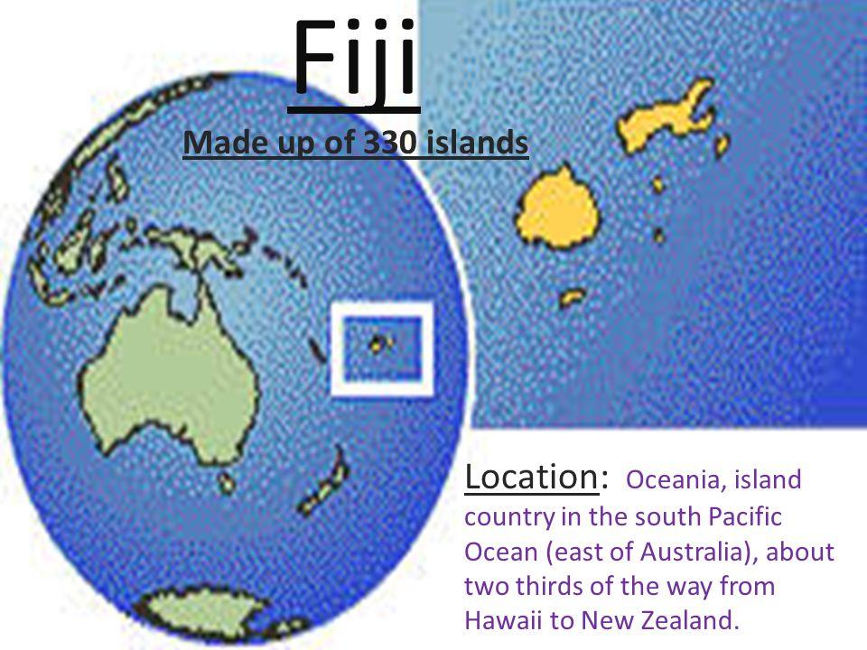 Fiji Location Oceania Island Country In The South Pacific Ocean - Fiji location