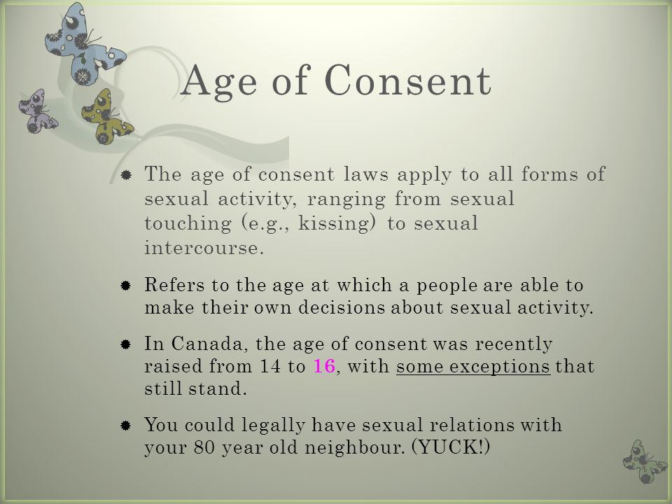What is the legal dating limit in canada