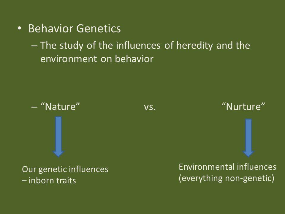 nurture arguments over nature