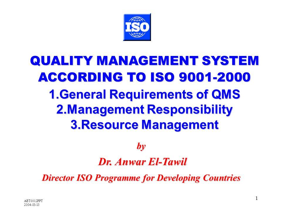 AET0012PPT 2004-03-13 1 by Dr. Anwar El-Tawil Dr.