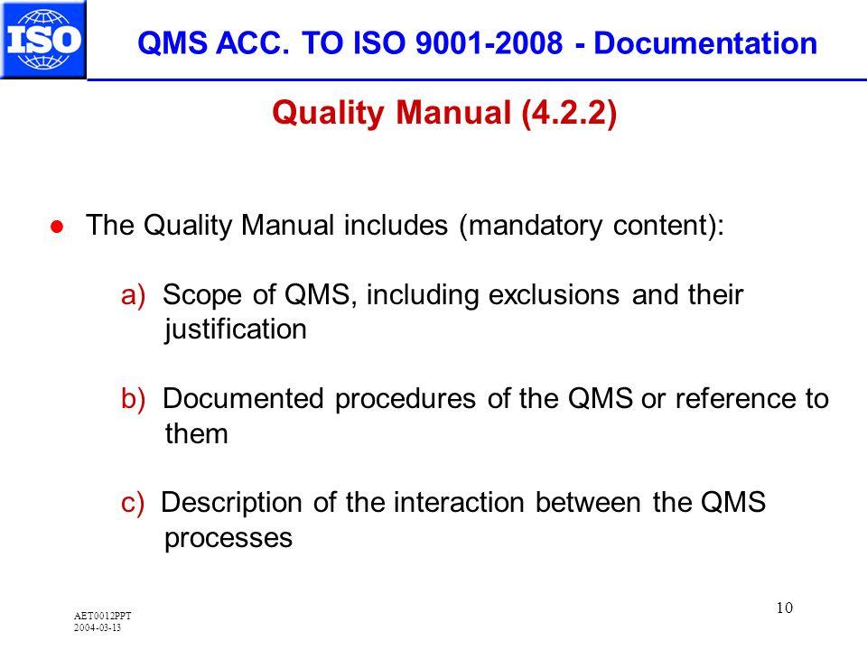 AET0012PPT 2004-03-13 10 QMS ACC.