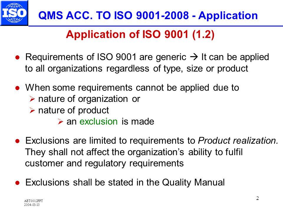 AET0012PPT 2004-03-13 2 QMS ACC.