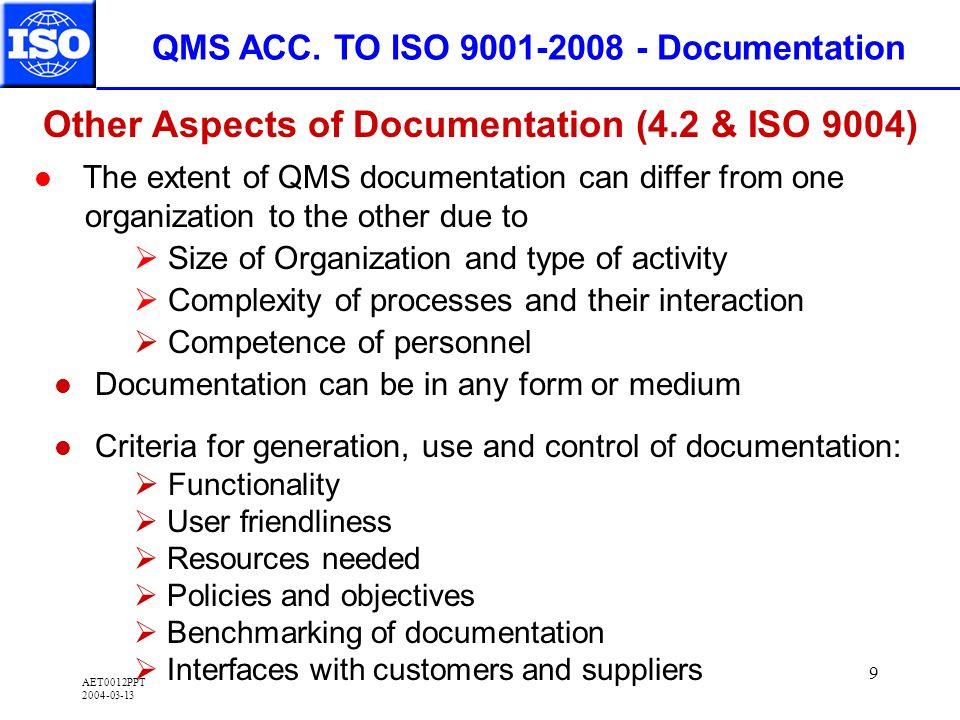 AET0012PPT 2004-03-13 9 QMS ACC.
