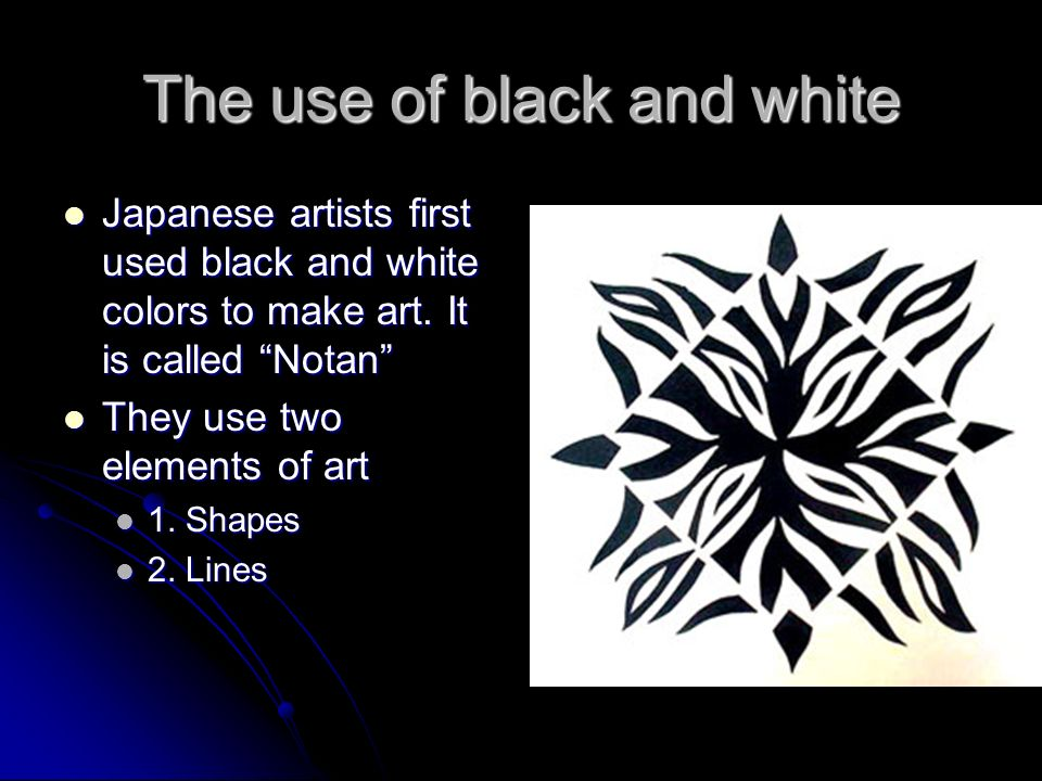 word for black and white