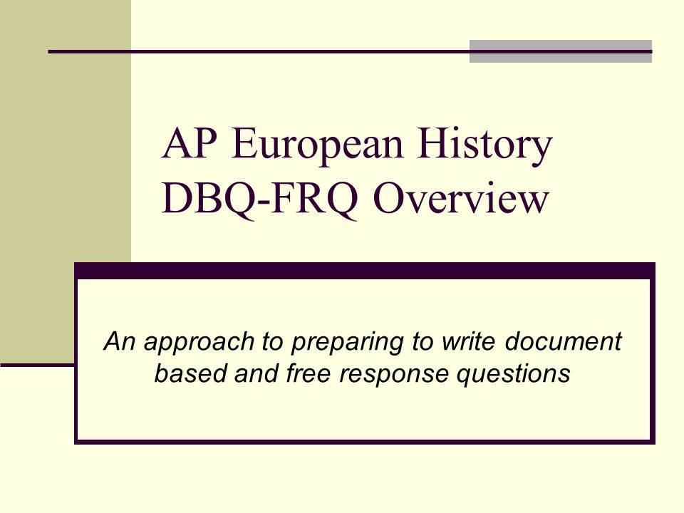 2005 ap european history dbq essay Question 1 — document-based question (dbq) ap® european history ap® european history  question 1  author:.