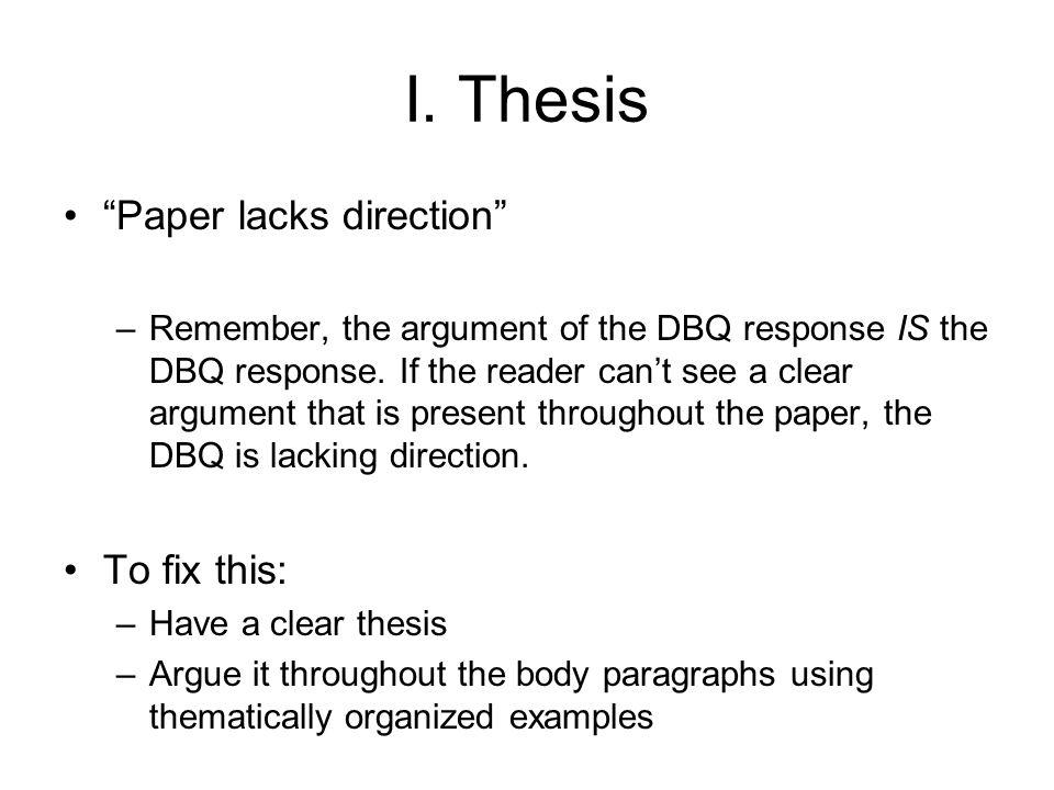 thesis response paper