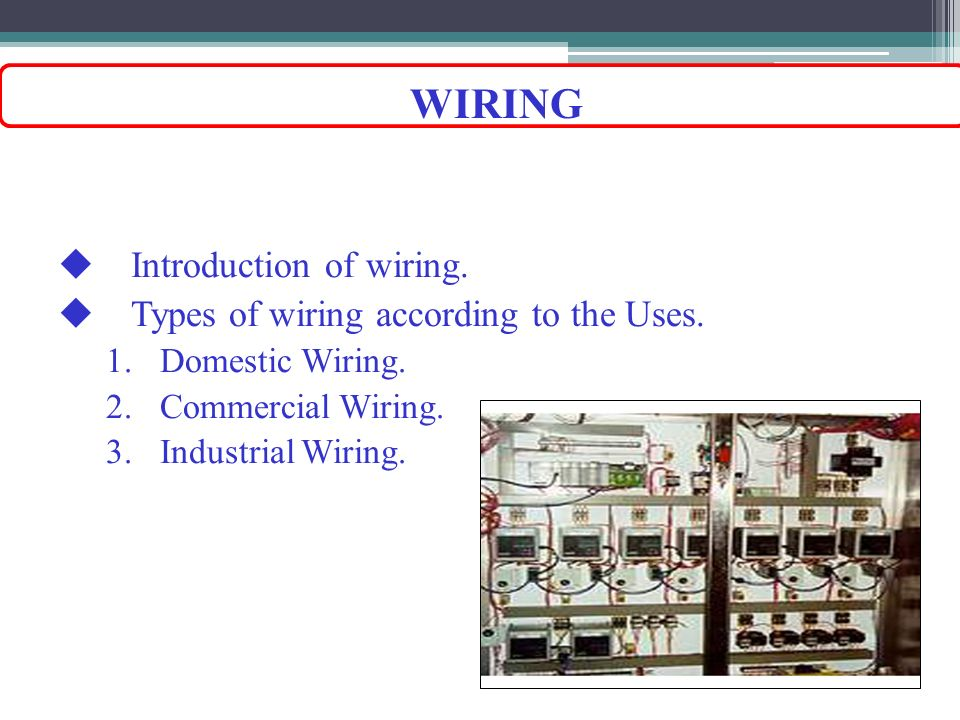 Enchanting Different Types Of Wiring Systems Sketch - Electrical ...