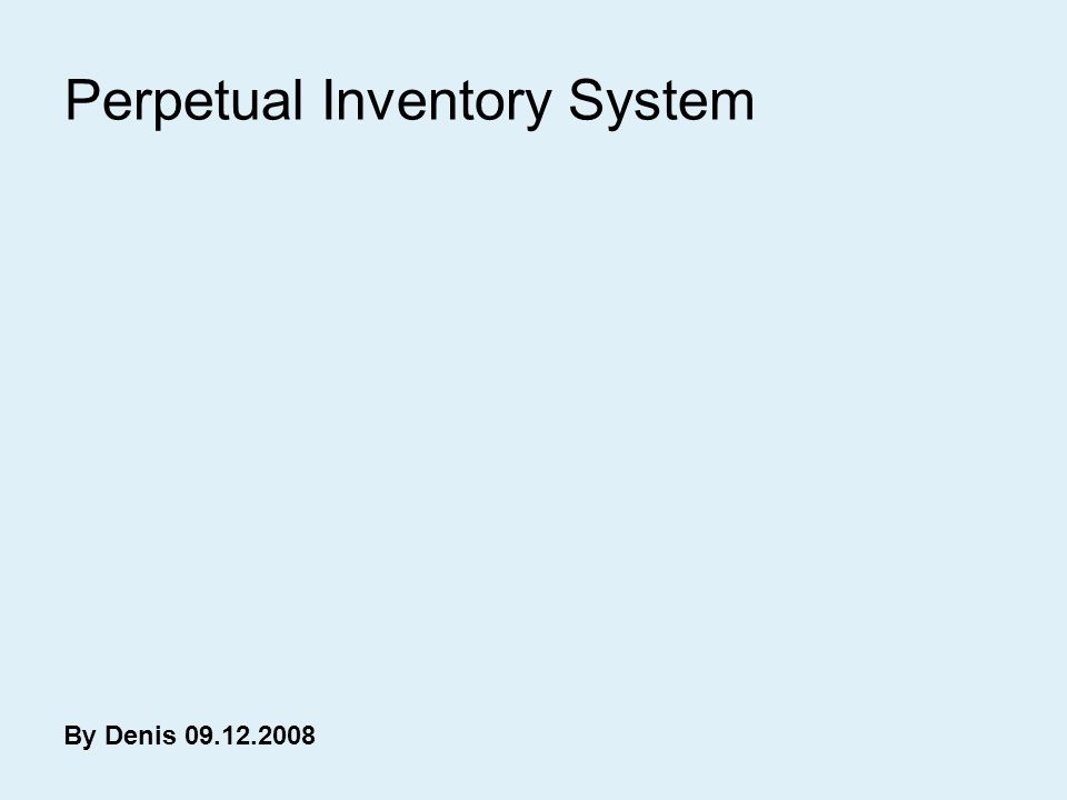 perpetual inventory form