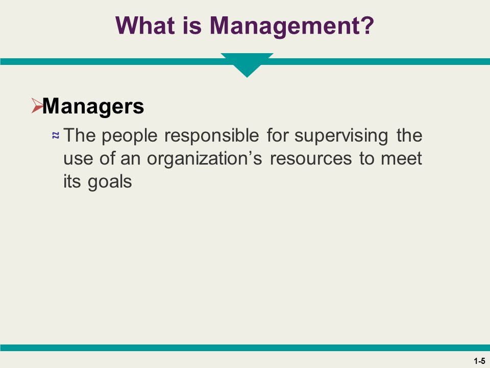 1-5 What is Management.