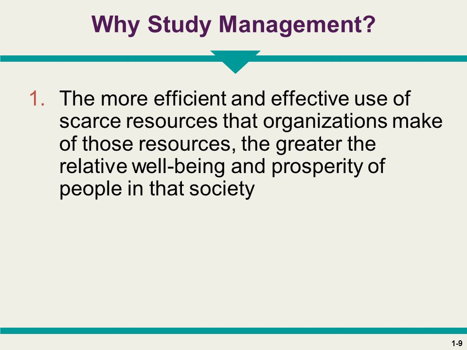 1-9 Why Study Management.