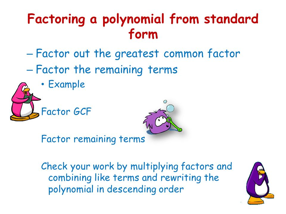 6 1 polynomial functions classifying polynomials ppt download 7 factoring ccuart Gallery