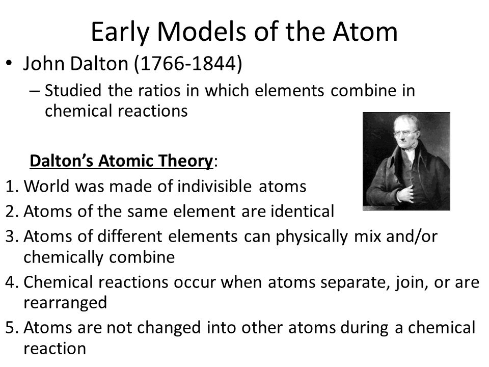 Electrons atoms and the periodic table atom smallest particle 4 early models of the atom john dalton urtaz Gallery
