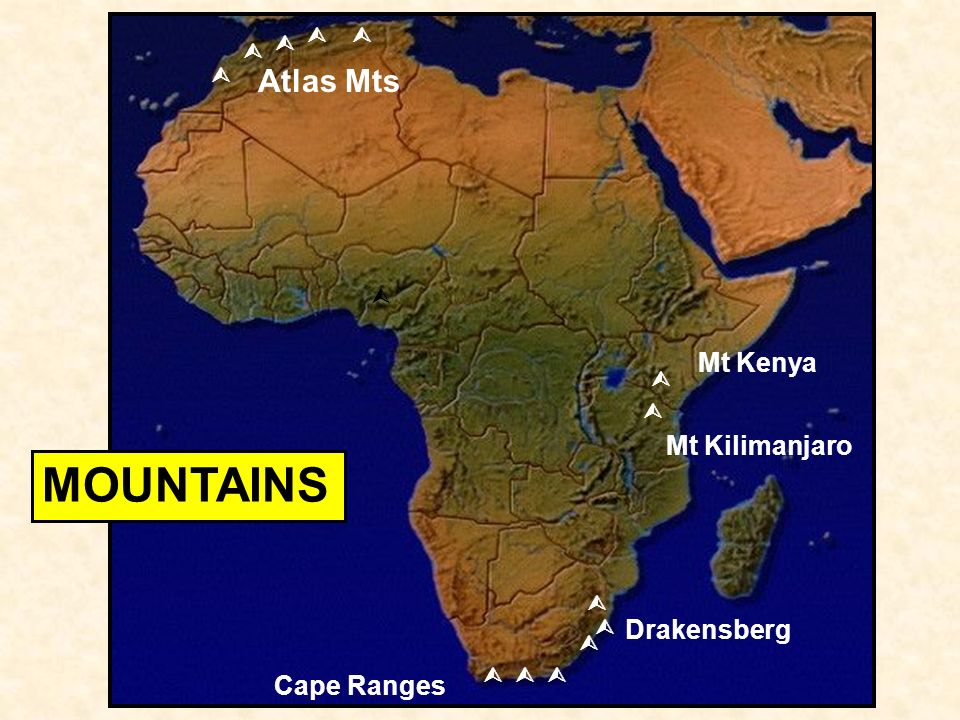 Subsaharan africa africas physiography oil drakensberg atlas mts 4 drakensberg atlas mts mt kenya mt kilimanjaro cape ranges mountains gumiabroncs Images