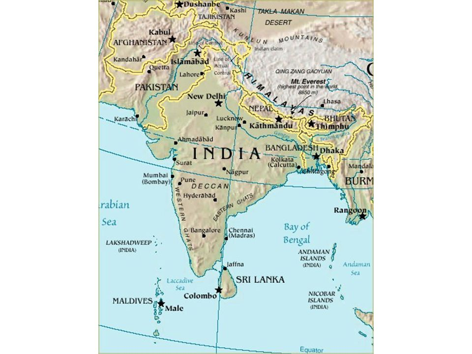 South asia physical geography a separate land seven countries 4 sciox Gallery