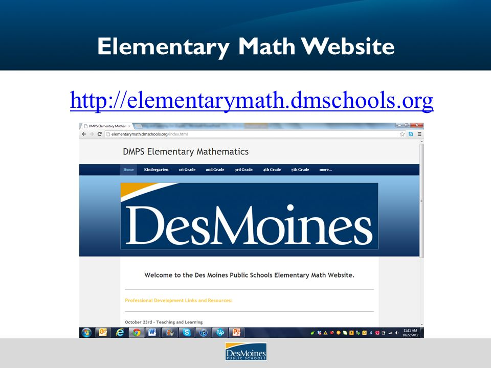 Teaching and Learning Elementary Math October 23, ppt download