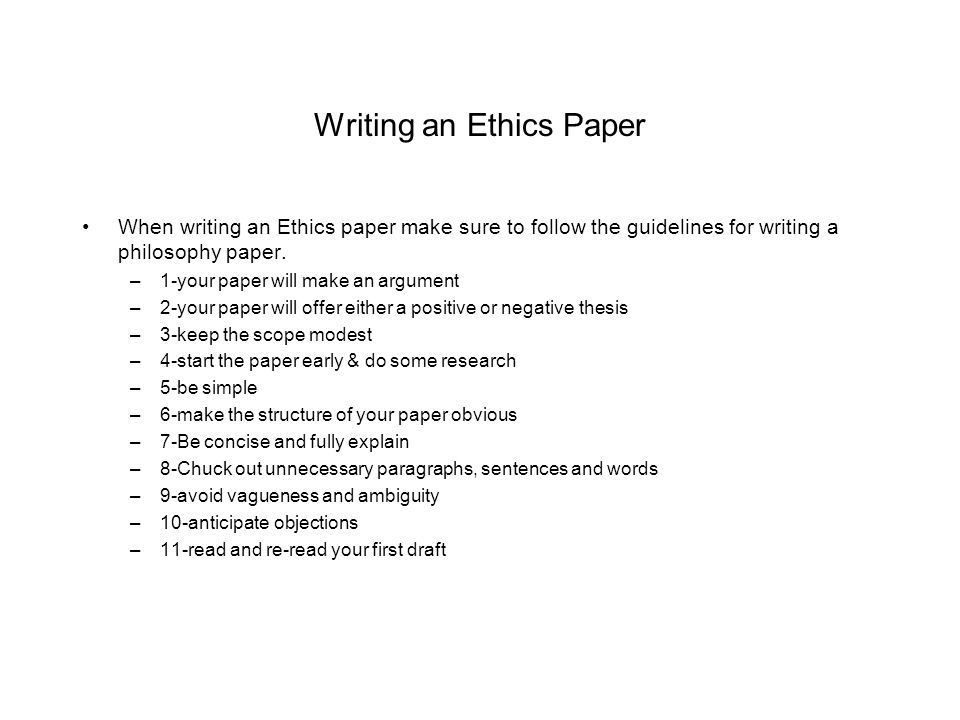 writing an ethics paper Outline for ethics paper - free download as word doc (doc), pdf file (pdf), text file (txt) or read online for free.