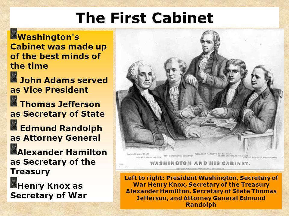 Section 1 Washington Heads the New Government President Washington ...