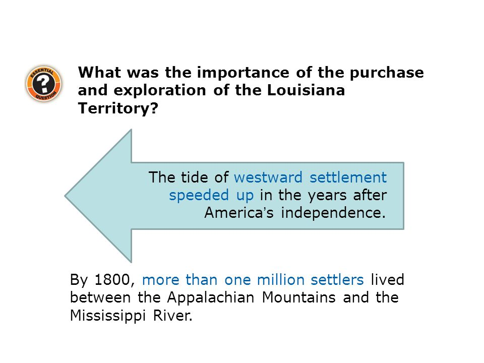 What was the importance of the purchase and exploration of the Louisiana Territory.