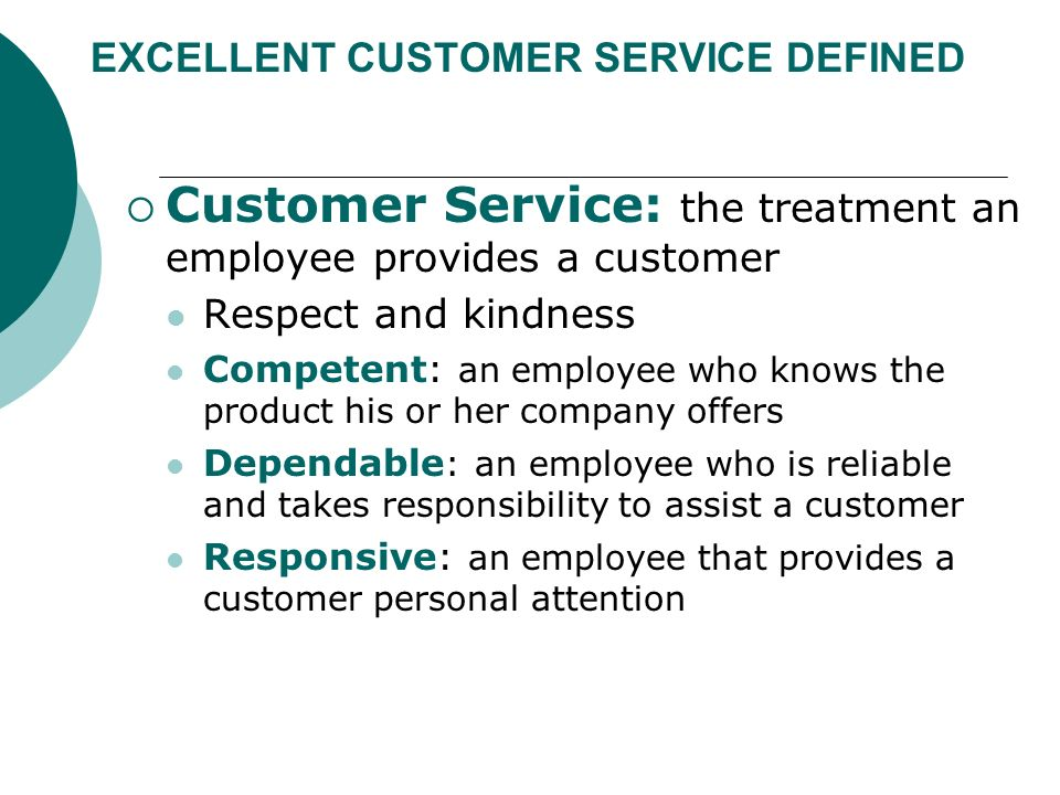 reliable customer service definition