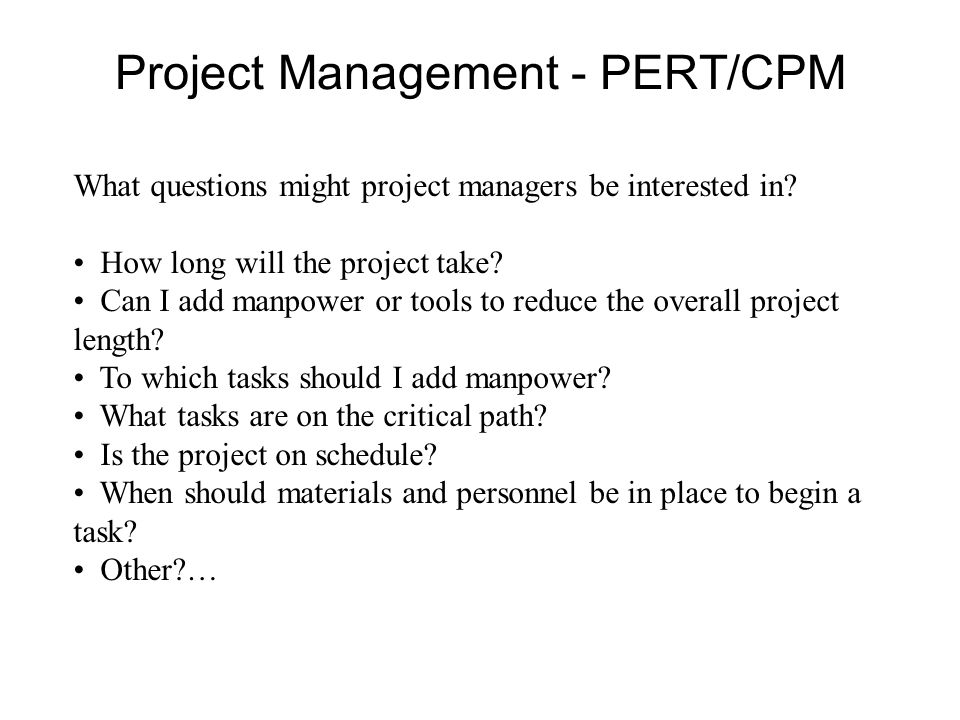 Project schedule for building a house