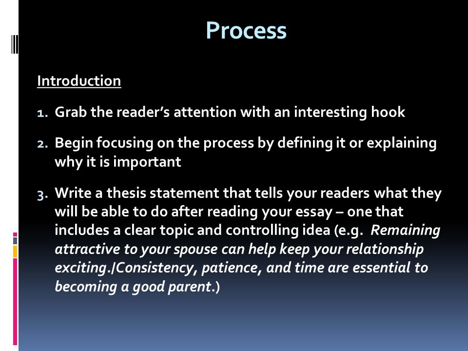 essay patterns methods used to express one of three purposes to  9 process introduction1
