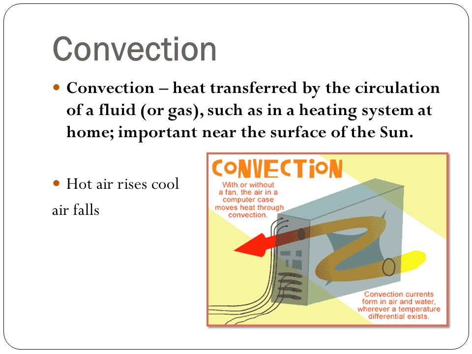 heat transfer by convection Introduction to heat transfer image: typically it is used to measure the enhancement of heat transfer when convection takes place and is calculated by:.