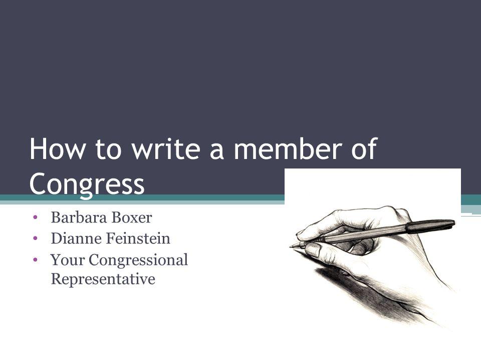 How to write to a representative