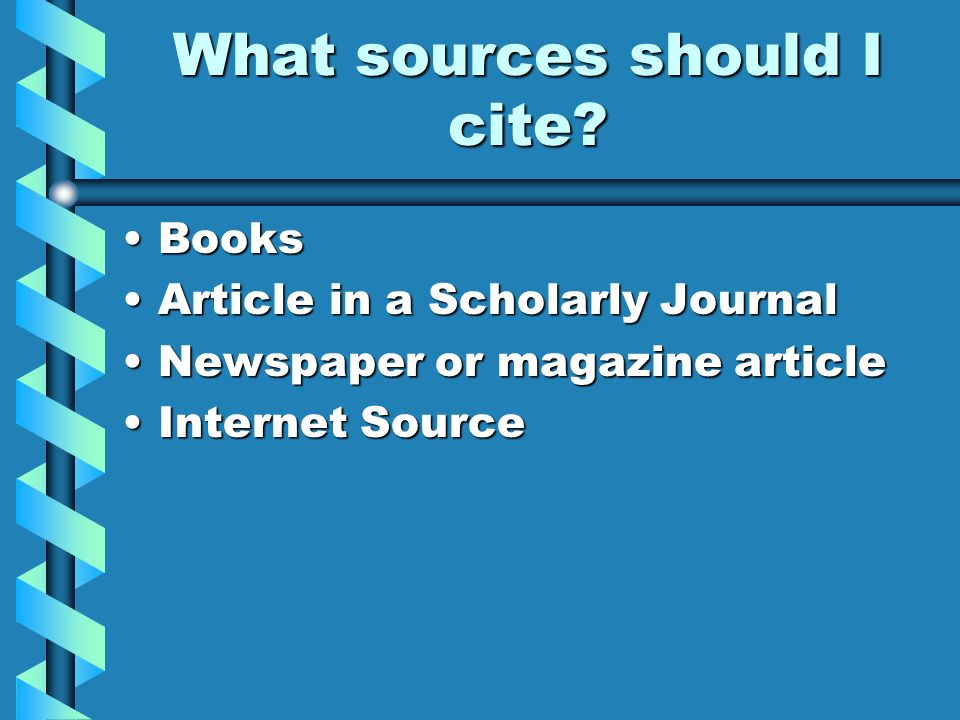 how do you cite a website in a research paper If you have made a point or conducted research in one paper that you would like to build on in a later paper, you must cite yourself citing yourself.