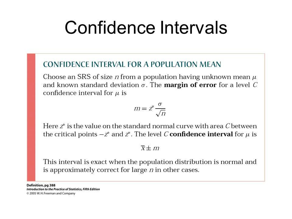 confidence interval standard deviation
