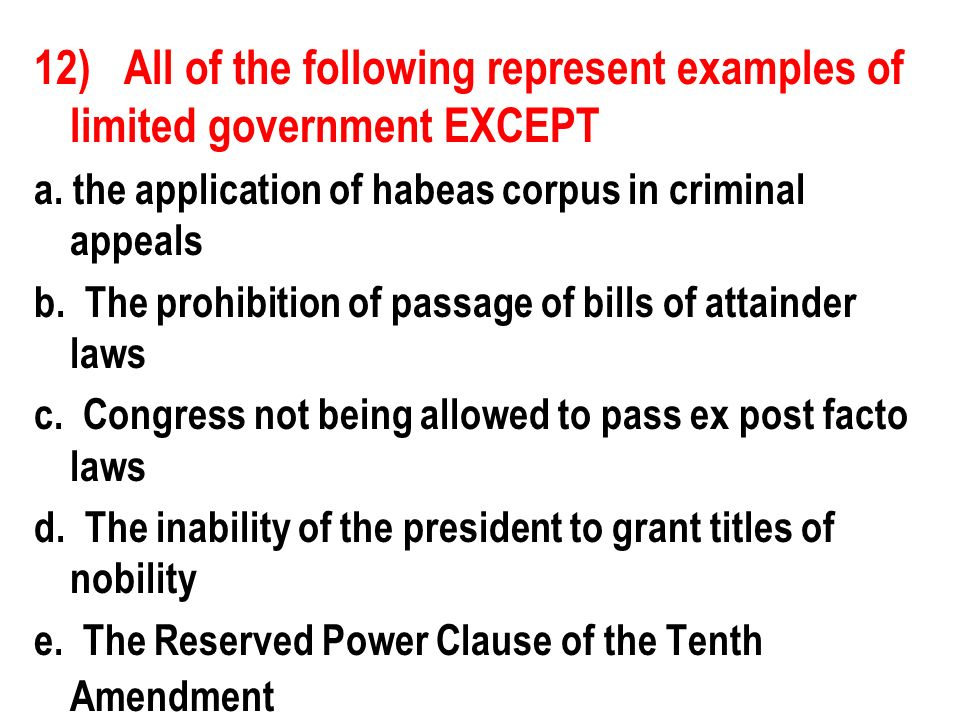 Review Part 3 The Constitution 1 Which Of The Following