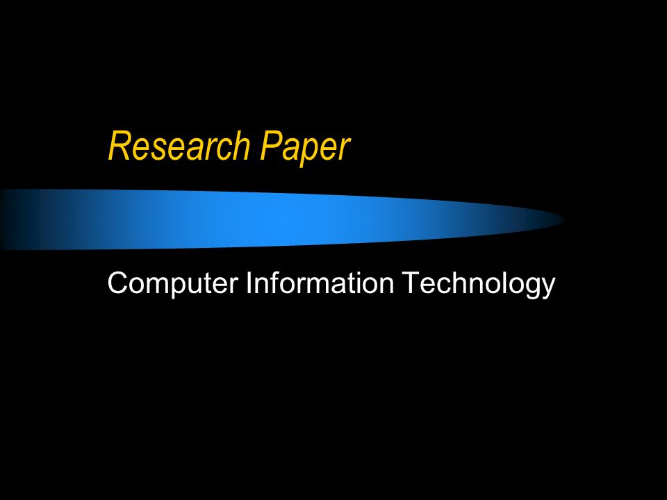 research paper on technology research paper on technology What do you need to know about composing a winning introductory paragraph of a technology research project to get the answer, read our following article.
