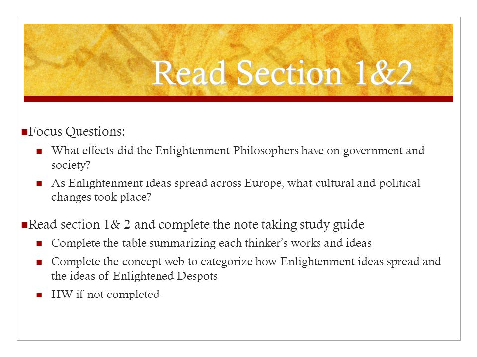 the enlightenment an incredible change essay In this lesson, we will identify the major themes associated with the enlightenment we will also explore the major figures and learn about their.