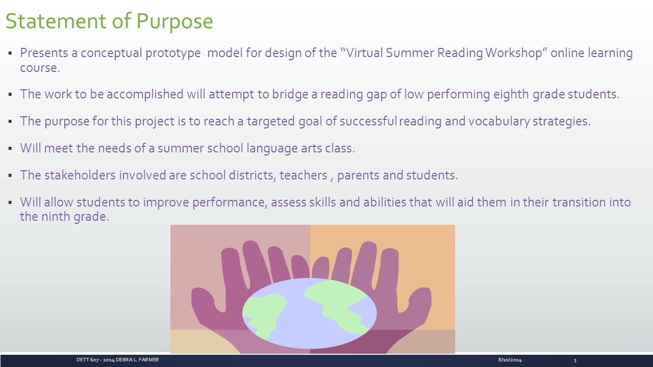 Project management plan virtual summer reading workshop presented 3 statement 1betcityfo Image collections